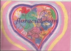 Dessin coeur fleur 1
